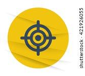 dark target icon label on... | Shutterstock .eps vector #421926055