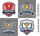 set of badges  emblem and logos ... | Shutterstock .eps vector #421928491