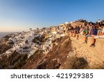 santorini  greece  september 12 ... | Shutterstock . vector #421929385