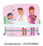 happy family with two kids...   Shutterstock .eps vector #421929865