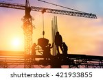 construction workers and... | Shutterstock . vector #421933855