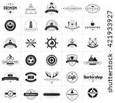 set of vintage badges and...   Shutterstock .eps vector #421933927