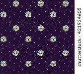 cute pattern in small flower....   Shutterstock .eps vector #421934605