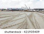 Fresh Tracks In Sand Of A Heav...