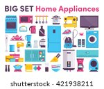 stove  refrigerator  air... | Shutterstock .eps vector #421938211