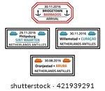 barbados  sint marteen  curacao ... | Shutterstock .eps vector #421939291