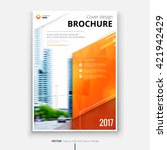 brochure design. corporate... | Shutterstock .eps vector #421942429