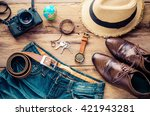 clothing and accessories for... | Shutterstock . vector #421943281