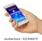 smart home app installing on... | Shutterstock . vector #421948375