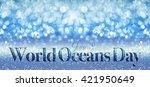 world oceans day | Shutterstock . vector #421950649