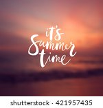 """it's summer time"" poster.... 