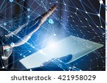network of connected devices | Shutterstock . vector #421958029