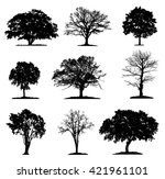 trees silhouette collection in... | Shutterstock .eps vector #421961101