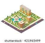 isometric 3d city house and... | Shutterstock .eps vector #421965499