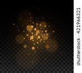 abstract black transparent... | Shutterstock .eps vector #421966321