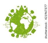 illustrations of concept earth... | Shutterstock .eps vector #421967377