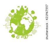 illustrations of concept earth... | Shutterstock .eps vector #421967557