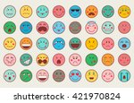 set of colorful emoticon icons. ... | Shutterstock .eps vector #421970824
