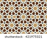 morocco arabic pattern.... | Shutterstock .eps vector #421975321