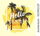 hello summer. modern... | Shutterstock .eps vector #421981129