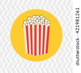 cinema icon design  | Shutterstock .eps vector #421981261
