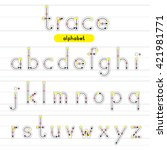 a z rounded lowercase trace... | Shutterstock .eps vector #421981771