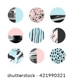 abstract painting circles with... | Shutterstock .eps vector #421990321