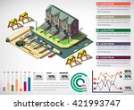 illustration of info graphic... | Shutterstock .eps vector #421993747
