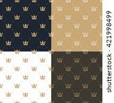 set seamless pattern in retro... | Shutterstock .eps vector #421998499