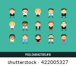pixel art 8 bit business people ... | Shutterstock .eps vector #422005327