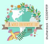 world environment day concept... | Shutterstock .eps vector #422009959