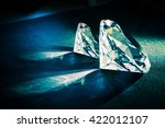 two large diamonds. diamond... | Shutterstock . vector #422012107