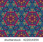 festive colorful seamless... | Shutterstock . vector #422014354