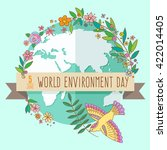world environment day concept... | Shutterstock .eps vector #422014405