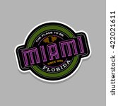 miami  florida  linear emblem... | Shutterstock .eps vector #422021611
