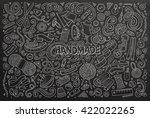 line art chalkboard vector hand ... | Shutterstock .eps vector #422022265