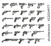 gun icons set  weapon icons | Shutterstock .eps vector #422024977