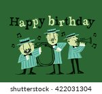 happy birthday musicians... | Shutterstock .eps vector #422031304