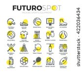 stroke line icons set of sports ...