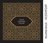 eastern gold frame arabic... | Shutterstock .eps vector #422039269