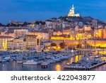 marseille  france at night. the ... | Shutterstock . vector #422043877