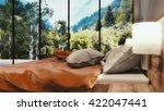 3d render of a modern bedroom   Shutterstock . vector #422047441