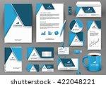 professional blue universal... | Shutterstock .eps vector #422048221