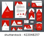 professional universal red... | Shutterstock .eps vector #422048257