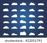 set of different cloud. vector