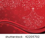 abstract red creative artwork... | Shutterstock .eps vector #42205702