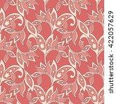 floral vector illustration in... | Shutterstock .eps vector #422057629