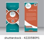 roll up banner stand template.... | Shutterstock .eps vector #422058091