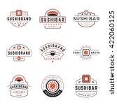 sushi shop logos templates set. ...
