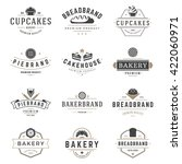 bakery shop logos templates set.... | Shutterstock .eps vector #422060971